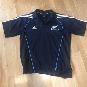 Adidas All Blacks Rugby Jersey sz L fair to good